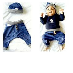 baby jeans pumphose #benim_denim von childrenofhoney auf DaWanda.com