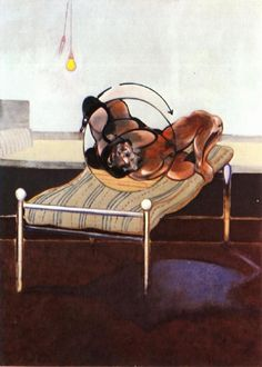 Francis Bacon - triptych with figures in a bed left panel 1972.jpg