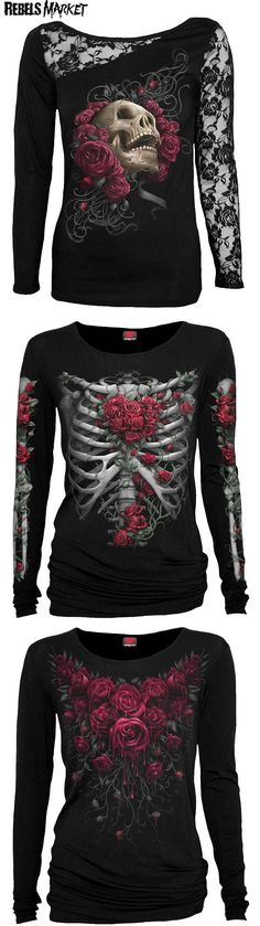 Shop goth shirts at RebelsMarket.