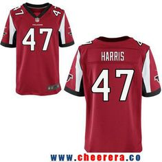 Men's Atlanta Falcons #47 Josh Harris Red Team Color Stitched NFL Nike  Elite Jersey