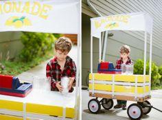 Lemonade stand idea with rosemary lemonade with cherries recipe!