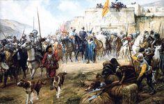 """La Pintura y la Guerra """"Diego de Almagro led the first Spanish expedition south…"""