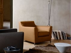 Rive Droite Armchair in Catala Leather