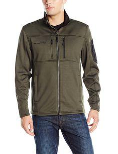 7214c2dba216 Men's Active Fleece Solid With Contrast Sleeve Patch - Dark Olive -  CX12G7EN759. Divat FérfiFérfiruhákBomberdzseki