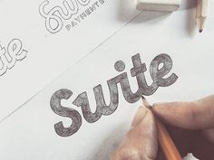 Swite by Paul von Excite  #calligraphy #typography #logotype #logo #brush #typeface #handlettering #handdrawn #pencil #sketch #font #type