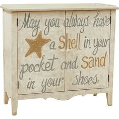 Shell in Your Pocket Cabinet... from HGTV's Beach Flip: http://www.completely-coastal.com/2015/08/hgtv-beach-flip-homes-decor-Joss-and-Main.html