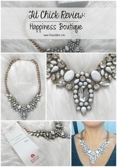 Fit Chick Review: Happiness Boutique - Snow White Statement Necklace Pin-able