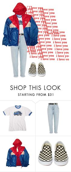"""""""i love you"""" by thishazyheadofmine on Polyvore featuring River Island, adidas and Vans"""