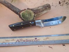 Wyoming Skinner  Wenge Wood Handles Hunting by EricsCustomKnives, $35.00