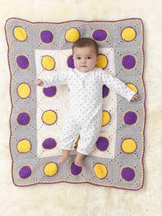 Free Crochet Pattern Dotty Dots Afghan