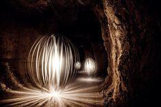 Light Painting Photos Taken Inside Marble Mines in Italy Light Painting Photography, Bella Photography, Light Installation, Strip Lighting, Love And Light, Graphic Design Inspiration, 30, Cool Photos, Sculptures