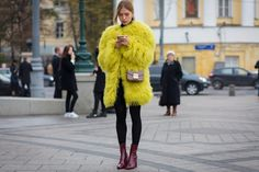 The Best Street Style Pics From Fashion Week Russia