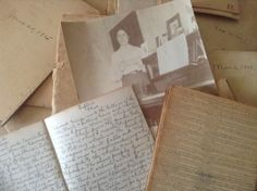 """Written by my great great aunt, starting in 1901, she wrote every day til her death in 1916. There are 50 of them. They are handstitched, 4x3"""" little journals. She wrote a page per day. A few years later it was 1/2 page per day, then 1/4, and so on, until, the last books were 1 month on 1 tiny page. She wrote 1 sentence per day to make it fit and you can't read those last ones without a magnifying glass. She was a teacher who never married or had kids. -@Sabrina Lundbohm brayton"""
