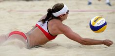 Misty May-Treanor vs. China - Click image to find more Sports Pinterest pins