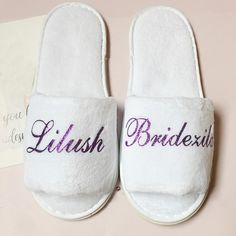 5pairs lot personalized velvet wedding bride bridesmaid gift slippers Birthday Hen night bachelorette party gifts-in Party Favors from Home & Garden on Aliexpress.com | Alibaba Group On Your Wedding Day, Wedding Bride, Wedding Engagement, Cheap Party Favors, Wedding Slippers, Bachelorette Party Gifts, Hens Night, Child Day, Bed Room