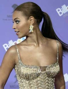 Beyonce formal, classy ponytail
