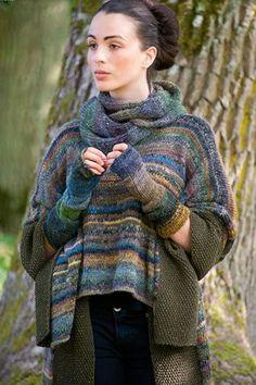 Knitting Daily, Knitting Yarn, Hand Crochet, Knit Crochet, Fair Isle Knitting Patterns, Crochet Basket Pattern, Casual Tops For Women, Casual Sweaters, Knitted Shawls