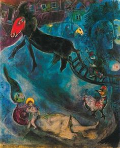Marc Chagall - Madonna with the Sleigh (1947)