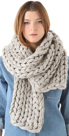MM6 Maison Martin Margiela Chunky Knit Scarf is getting me excited for winter. Can't wait to be bundle up again