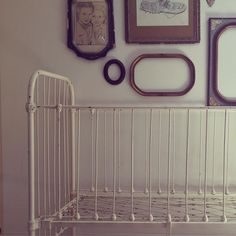 Vintage White Wrought Iron Crib