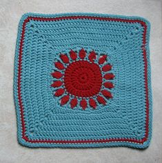 "Sunrise Sunset Afghan Square, a take on the ""Sunrise Sunset Afghan"" by Dorothy Warrell     http://ambassadorcrochet.com/2011/05/05/sunrise-sunset-afghan-square/"