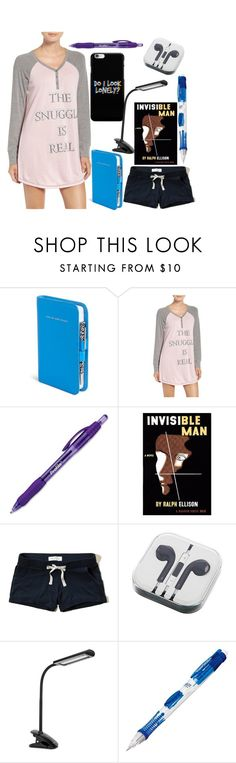 """""""Can't Sleep: 4AM"""" by lovelylilly18 ❤ liked on Polyvore featuring Vera Bradley, P.J. Salvage, Paper Mate, Hollister Co. and PhunkeeTree"""