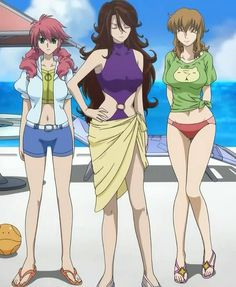 Mobile Suit Gundam 00 - Feldt Grace, Sumeragi Lee Noriega, and Christina Sierra