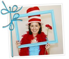 """Maegan Birr is so talented! She created (with help from a few friends) one of the cutest Dr. Seuss showers I have seen.  A photo booth area was set-up at the shower – they stocked it with red boas, a """"Cat in the Hat"""" hat, flower and an aqua colored frame.  After each guest took a photo, they wrote advice and tips for the new mom to be…."""