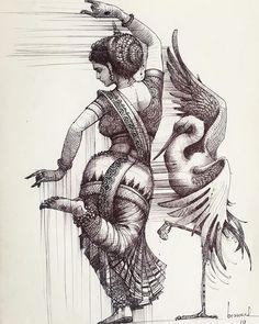 dance of chilika Cute Cartoon Drawings, Girly Drawings, Pencil Art Drawings, Art Drawings Sketches, Dance Paintings, Indian Art Paintings, Black Panther Art, Easy Drawings For Kids, Art Drawings Beautiful