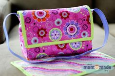 Mom-Made | Sewing Shop and Photography Blog: #Doll diaper bag and matching changing pad