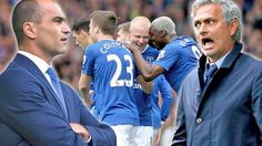 Chelsea manager Jose Mourinho argued with Everton boss Roberto Martinez after his side's 3-1 defeat ...