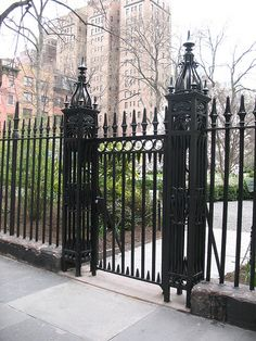 Gramercy Park - NYC's only surviving private park.  Wish I had a key!