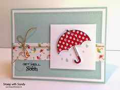 Stamp with Sandy: April Showers for The Paper Players