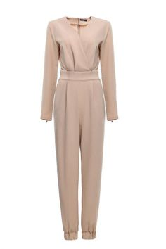 Hijab House Taupe Jumpsuit - For a more modest look I would wear a sleeveless cover-up over it