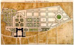 Der Jardin du Luxembourg wird mit dem Lineal beschnitten. BnF, Cabinet d'Estampes.