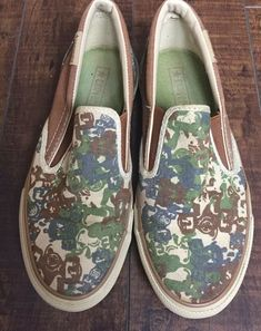 3b7c9729f0e7 Converse All Star Slip On Sneakers Shoes Camo Canvas US Sz Mens 5.5 Wo s  7.5  fashion  clothing  shoes  accessories  unisexclothingshoesaccs ...