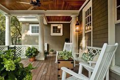 Love everything about this porch!!! Perfect!!!