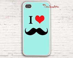 Mustache Iphone 4 Case, iPhone 4s Case, iPhone Case, I Love Mustache  iPhone 4 Hard Case