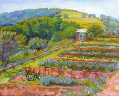 """Garden Vista"" - Original Fine Art for Sale - © Polly Turner"