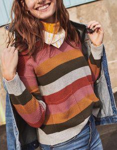 5cbdaf49481 Patch Pocket Pullover Sweater in Walton Stripe