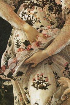 "barcarole: ""Detail from Primavera, Sandro Botticelli, "" Art And Illustration, Renaissance Kunst, Renaissance Paintings, Sandro, Giorgio Vasari, Art Through The Ages, Tattoo Project, Italian Painters, Pre Raphaelite"