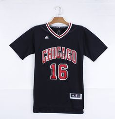 3a2e9d758 Adidas NBA Chicago Bulls 16 Pau Gasol New Revolution 30 Swingman Black  Jerseys with Sleeve