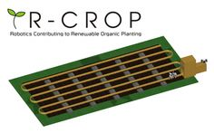 """The """"R-CROP"""" concept, designed by a high school student, is an attempt to automate the process of gardening in a #sustainable way. Winner of joint VEX Robotics and #Autodesk Sustainability competition, the R-CROP, designed in Autodesk #Inventor, uses #VEXRobotics components to make a planting and watering system that reduces environmental impact while supplying the user with fresh and healthy food straight from their garden."""