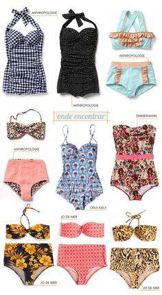 AlquilaTusTocados.com: Tendencia: Moda de Baño Retro