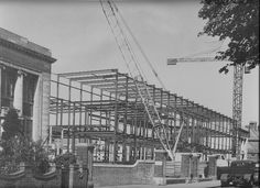 Construction of College Frontage Avenue Campus Northampton Saint George, Nct, Louvre, University, College, Construction, Black And White, Building, Travel