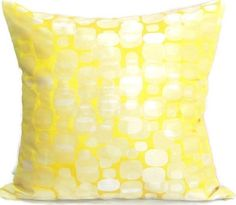 Abstract geometric throw pillow cover 20  – Handmade yellow green cushion cover