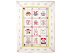 McCall's Crafts M6412 Baby Quilt Pattern Dimensional Patchwork Applique Quilt by Pearl Louise Designs Little Girl Quilt Cottage Chic