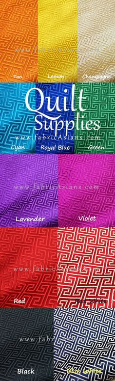 Multi color fabrics for your crazy quilting project. Quilting Fabric.