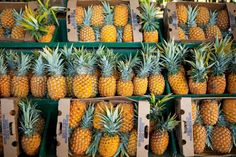 Love this! This one has us feeling inspired for a beach honeymoon somewhere fun and hot! #hawaii #pineapple