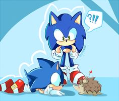 (modern)Sonic, (classic)Sonic &... a hedgehog